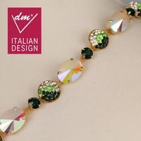 Beautiful fancy wholesale rhinestone chain trim for dress