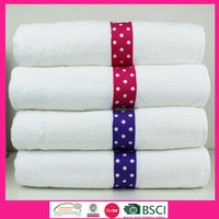 100% cotton High Quality, soft and fancy border bath towel