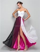 Vestidos De Fiesta Multicolor A-Line Sweetheart Pleat Formal Prom Dresses elegant chiffon evening dresses long FXL-208