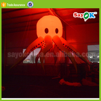 stage decoration for festival giant inflatable octopus with led light