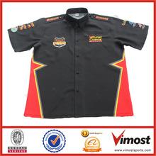 Custom Sublimation Pit Crew Shirts Racing Promotion Wear