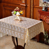 Vinyl Lace Tablecloth with Film Backing