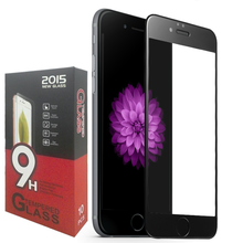 2015 Newest wholesale full cover color tempered glass for iphone 6 screen protector