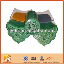 Green color glazed classical Chinese roofing tiles