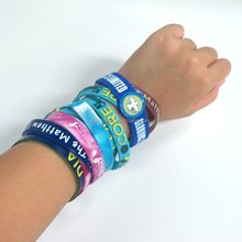 Colorful sport silicone wrist band glow in the dark bracelet