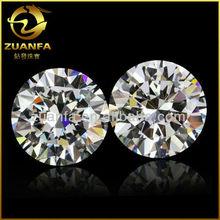 round 1.0mm to 10mm white cubic zirconia machine cut wuzhou cubic zirconia