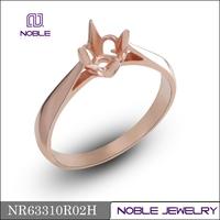 Semi mounting 18K rose gold wedding ring