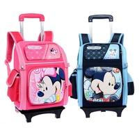 kids school bag with wheels trolley school bag