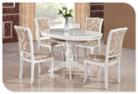 oval round extendable white lacquer dining table