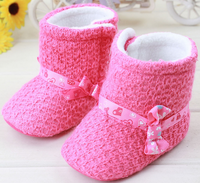 2015 Hot Selling Shoe Baby Lovely Pink Kids Boots Winter Snow Knitting Boots