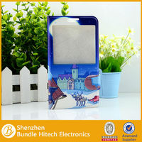 Cartoon open window leather case for samsung note 3