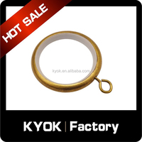 KYOK Hot sale metal curtain rings, shower curtain pole eyelets rings, flexible home decor curtain rod/pole accessories