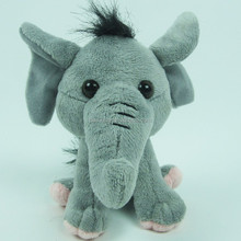 12cm Little size animal design elephant with plastic eyes for sale
