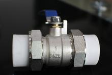 Double side union brass ball valve