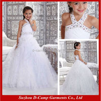 FG-140 White ball gown dresses for kids wedding dresses pictures