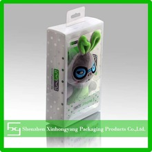 Customized printed small clear plastic packaging boxes for phone case