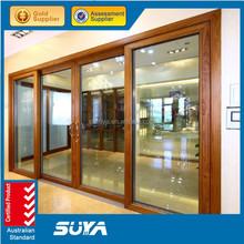 Double glazed aluminum doors and windows Australia Standard AS2047 wood aluminum door