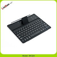 Fashion Design Super Slim Wireless Aluminum Bluetooth Keyboard Case For iPad 2 3 4