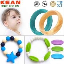 Customed High Quality Silicone Wedding Ring/Silicone Teething Bracelet