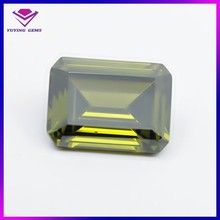 Machine cut loose gemstone 7*9mm rectangle period cubic zirconia price wholealel