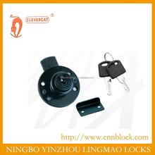 Round underpin zinc black drawer lock
