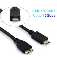 Forida new USB 3.1 black 60 cm two excellent usb cable for tech test
