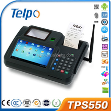 Hot selling TPS550 wireless cdma Biometrics pos terminal keyboard