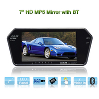 MP5 7inch c.h.i.m.p. rearview monitor mirror with Bluetooth full format