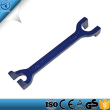 Double Ended Fixed Basin Wrench, 15 & 22 mm, For Confined Areas