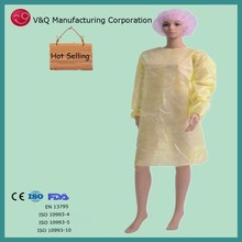 Disposable surgical gown isolation gown for operating room