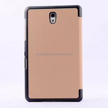 PU leather flip tablet case with PC cover for Samsung GALAXY Tab S T700