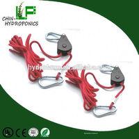Hydroponic garden supply adjustable 1/4 rope ratchet/ratchet type load binder with grab hook