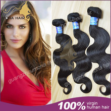 Mona best selling brazilian body wave sew in human hair extensions