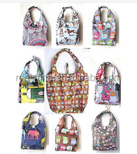 Fashion Reusable Beach Foldable Portable Folding Tote Shoulder Shopping Bag