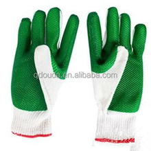 10 cotton work glove ,cotton oven glove,rubber coated glove.ce glove, glove, cotton rubber glove