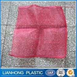 Reusable vegetables leno mesh bag, red onion mesh bags with UV treated, small drawstring mesh bag for garlic packing.