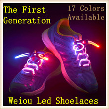 ( MOQ:10 pair )New function Waterproof colourful flashing LED shoelaces led shoe laces for sale
