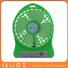 2015 promotional plastic led light usb mini fan small table fan desk mini fan