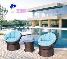 2015 New PE rattan outdoor 2 sofas and wicker teapot sofa leisure sofa set 0705T
