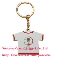 2002 coréia copa do mundo de metal chaveiro souvenir/japão mini t- camisa chaveiro