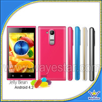 Cheap 4'' MTK6572 Dual Core GSM Android 4.2 Smart Phone 2 SIM Black White Blue Pink Colors