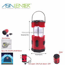 8 LED Solar Camping Lantern with 5.5V 50mAH Solar Panel