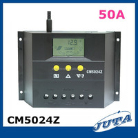 50a12v/24v with ce rohs pwm and LCD battery charger solar charger controller 50a regulador placa solar