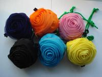 Polyester Rose Flower Nylon Foldable Shopping Tote Bag