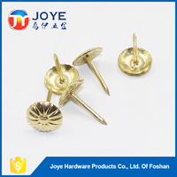 2015 hot selling brass decorative upholstery nails for furniture chairs and sofas