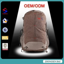 New style popular sport leisure softback hiking backpack bag Factory direct traveling hiking backpack bag with rain cover