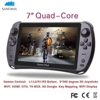 High Quality Powerful SANEMAX CF707 7inch Quad Core IPS Screen 5000MAh Game Tablet,Android Game Console, Video Game Console