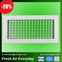 Air conditioning aluminum double deflection adjustable louver shutter