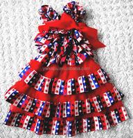 Fancy flower girl dresses cheap, new model frocks dresses, high quality baby girl party dress