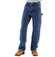 hot sale six pockets blue carpenter workwear trousers for men